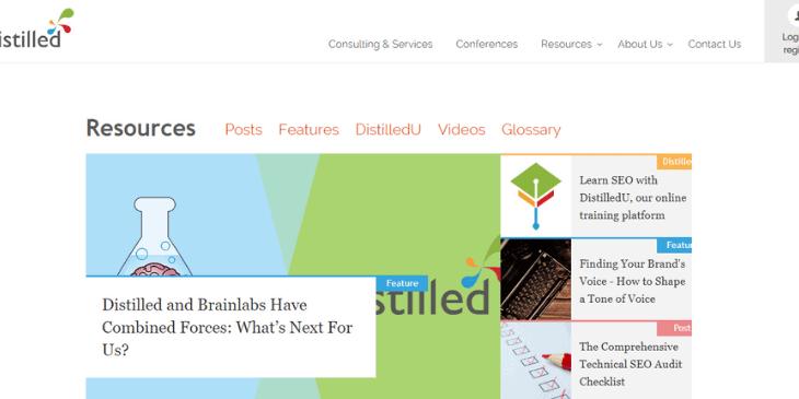 distilled blog