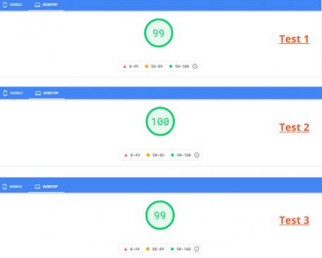 Desktop speed test